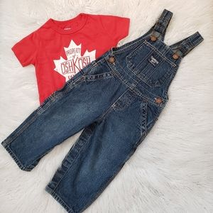 OshKosh jean overalls with t-shirt